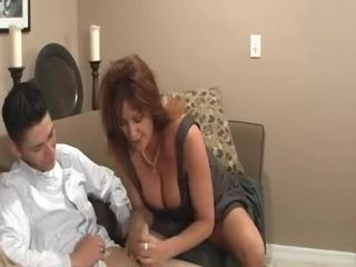 Blowjob is thing that chesty MILF can do for her son