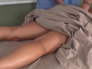 MILF asks son to give her massage and he rubs her pussy