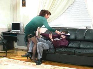 Woman punishes guy and makes him watch her masturbating