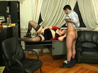 Greasy dame sucks dick in run up to main action