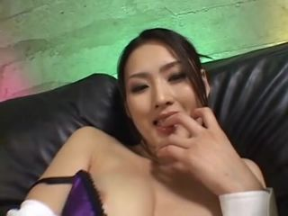 Japanese girl gets high on feeling animals licking her body